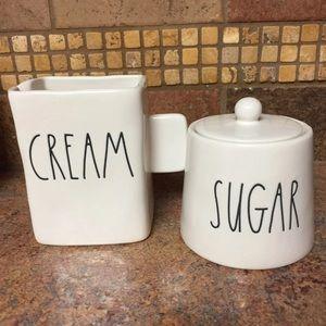 New ceramic Rae Dunn Sugar Cream.